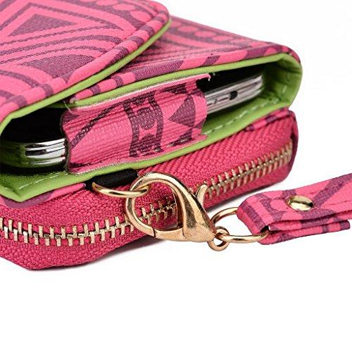 Kroo Pochette/Tribal Urban Style Téléphone Coque pour Samsung Galaxy Core Plus vert Rose