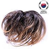 53-401-02 - Elastico capelli sintetici con méches colore Cannella - Aspetto naturale - Elastici fermacoda extension (Méches Cannella)