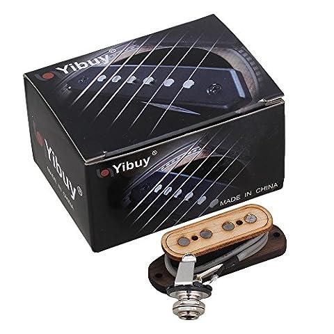 Yibuy Cigare Box Guitare En bois 4 pôles Pré-Câblé à 4 cordes Basse Micro avec