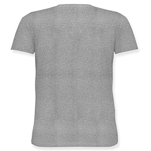 Oktoberfest Damen - Keep Calm and Eat a Brezel - Lockeres Damen-Shirt in Großen Größen mit Rundhalsausschnitt Grau Meliert
