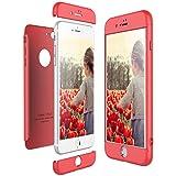 CE-LINK Coque iPhone 8 Plus, Housse Etui en PC Matière 3 en 1 360 Degrés Protecteur Solide Cover - Rouge