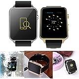 LeaningTech Smartwatch Smartuhr NFC Bluetooth Kamera Mitteilung Schrittzähler GT88 wasserdicht für iPhone IOS Android Schwarz Silber