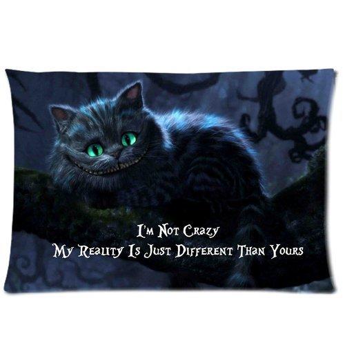 Trendsetter Alice im Wunderland Cheshire Katze Personalisierte Kissenbezüge Home dekoratives Kissen Abdeckung 16x 24(Zwei Seiten)
