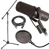 """Shure sm7b dinámico micrófono w/micrófono Boom Soporte, filtro Pop y cable XLR 20"""""""