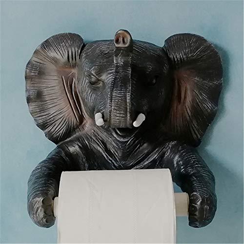 Joeesun Schöne Tier Elefant Toilettenpapierhalter Harz Papier Handtuchhalter Papier Abdeckung Box Küche Papierhalter