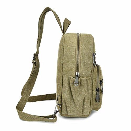 tela borsa a tracolla, petto in borsa, borsa, signore di viaggiare nel tempo libero,verde dell'esercito verde dell'esercito