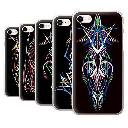 Stuff4 Hülle / Case für Apple iPhone 8 / Blau/Grün Muster / Stammes-Nadelstreifen Kollektion Pack 5pcs