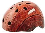 YEAH! Freestyle Helm Fahrrad Stuntscooter Skateboard viele Farben/Designs, Farbe:Holz;Grösse:M
