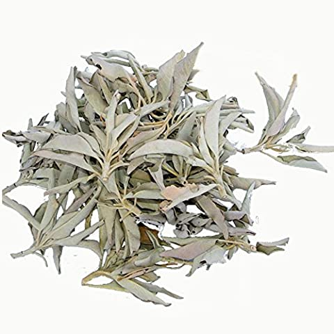 Suelto, salvia 50gr Suelto, racimo salvia blanca a granel - premium cluster Californian White Sage Salvia Blanca Californiana: Purifica y Limpia Alejando la Energía Negativa de la gente