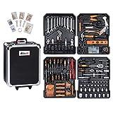 Ribelli 899-teilig Werkzeugtrolly, Universal Werkzeugsatz im praktischen Koffer, Werkzeugkoffer inkl. vielseitigem Zubehör, Werkzeugkasten, Werkzeugkiste