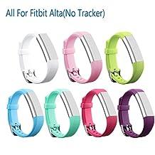 mtsugar Colorful Nueva pulsera de repuesto con cierres de seguridad para solo Fitbit alta (no Tracker, bandas de reemplazo solamente) Style 1