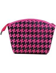 Fletion Femmes Filles Make Up Bag Wash Sac de toilette Cosmétiques Wallet Holder Pencil Pen Storage Wash sac cosmétique sac à main Outil de maquillage Sac