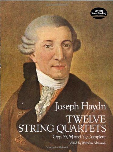 12 String Quartets op. 55, 64 & 71 (Score): Partitur für Streichquartett (Dover Chamber Music Scores)