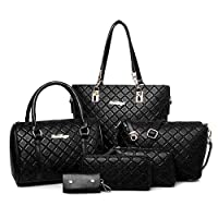 6 pieces fashion elegant ladies shoulder handbag set