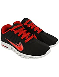 Goodlay Men's Embossing-1 Black & Red Sports Running Shoes