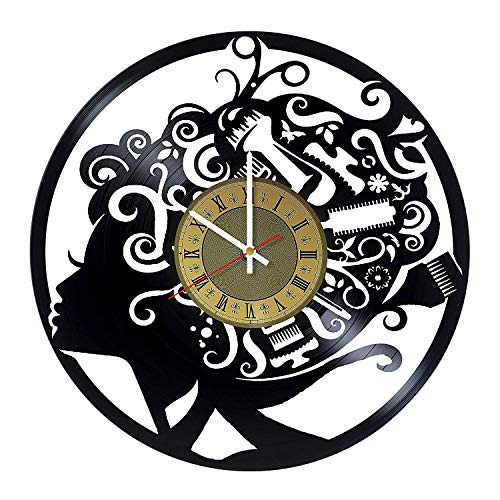 Hair Stylist Vinyl Clock | Barber Shops Tools | Best Gift for Hairdressers, Stylists, Barbers, Hair Stylists | Original Barber Shops and Beauty Salon Wall Decor -