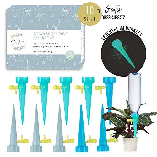 valeaf Bewässerungssystem - Summer Sale - 10 Stück - automatische Pflanzen-Bewässerung - Wasserspender für Blumen und Pflanzen - Garten und Balkon - ideale Bewässerung für Topfpflanzen im Urlaub