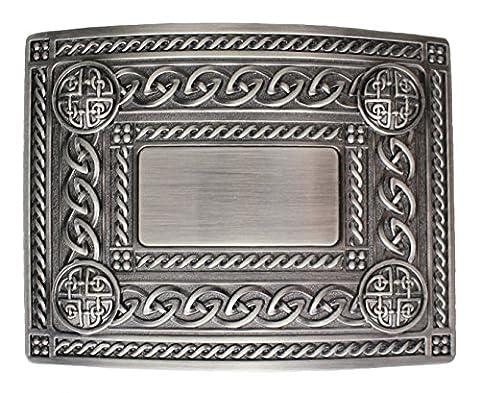 Men's Celtic Kilt Belt Buckle (Antique Finish)