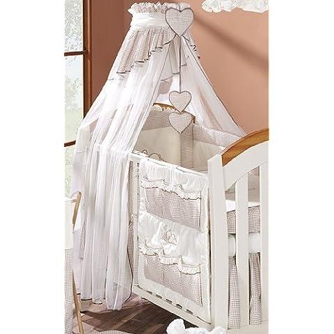 Baby lettino baldacchino/zanzariera 320cm + Supporto da pavimento–Small Check Beige