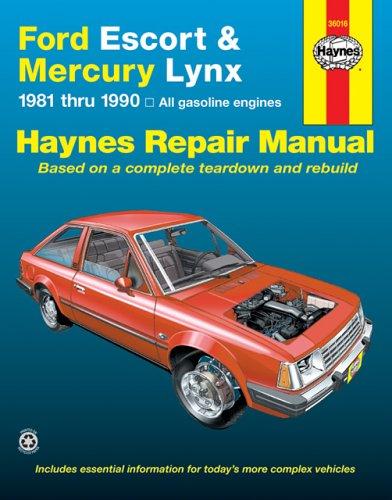 Ford Escort and Mercury Lynx, 1981-1990 (Hayne's Automotive Repair Manual) (1986 Ford Escort)