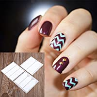 MSmask Fashion 18 Sheets DIY French Nail Art Tips Tape Guide Stencil Manicure Form Stickers Finger Toes nails