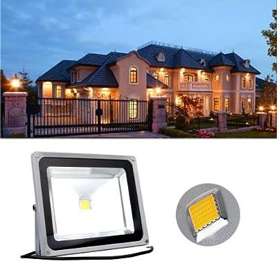 CroLED® 50W IP65 wasserdicht Außenstrhler LED Fluter Flutlicht Scheinwerfer Strahler Warmweiß Garten Lampe von CroLED bei Lampenhans.de