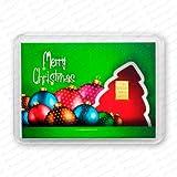 Goldbarren 1g 1 Gramm Motivbox Geschenk Weihnachten Gold Barren + 1x Echtheitszertifikat von Securina24® (Merry Christmas Kugeln)
