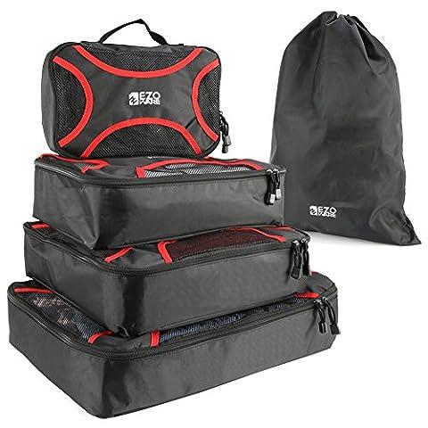 EZOWare 4 PCs Packing Cubes, Travel Organizer Storage Bag Pouch