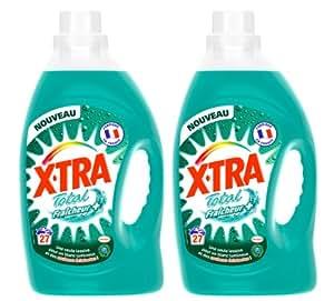 X-Tra Total Fraîcheur + Lessive Liquide 27 Lavages Flacon de 1,89 L - Lot de 2
