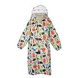 WOLFTEETH Bambini Giacche impermeabili cappotto incappucciato Outwear Raincoat per la corsa, all'aperto, campeggio, scuola, equitazione Suit Et¨¤ 6 - 10 anni