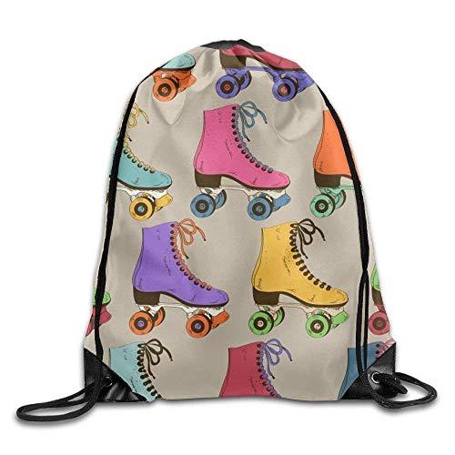ewtretr Turnbeutel, Roller Coaster Casual Men Drawstring Backpack Large Capacity Gym Sack Bag Travel -