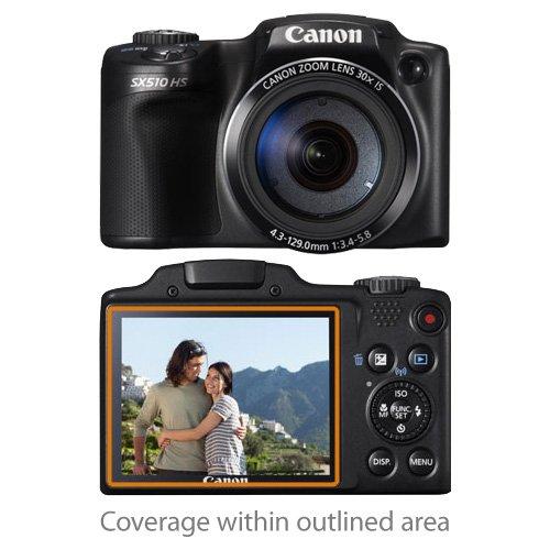 boxwave-cleartouch-crystal-canon-powershot-sx510-hs-2-pack-protector-de-pantalla-de-alta-calidad-ult