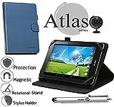 Navitech 8 Zoll Blaues Case / Cover mit 360 Grad Rotierbare Stand Funktion und Stylus Pen für das Nokia N1 7.9-inch Tablet