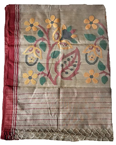 Handloom Hand Woven Jamdani Saree With attached Blouse