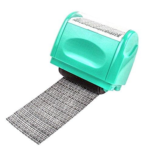 Sicherheit-Stempel, Sue Identitätsdiebstahl-Identität Schutz Roller Stempel grün (Sicherheit Stempel-roller)