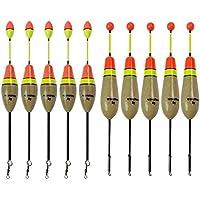 qualyqualy flotadores de pesca, madera de Paulownia madera de Balsa Pesca Bobber Set 0.17 –