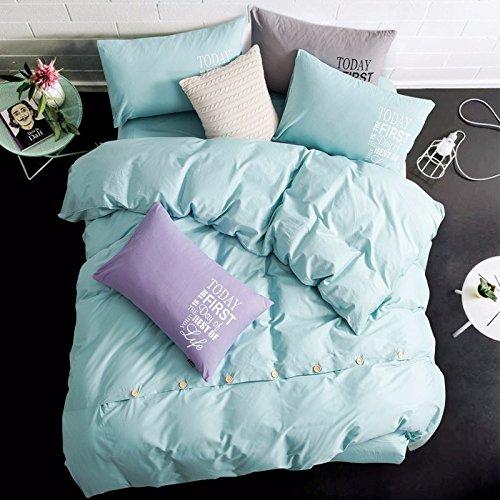 4-teiliges Set Home Textile Baumwolle Münze Kit 1,5 -1,8 m m Bettwäsche set ist universal 200 * 230 cm, blau, 4-teilig (Baumwoll-münzen-satz)