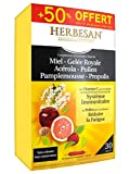 Herbesan Miel Gelée Royale Acérola Pollen Pamplemousse Propolis 20 Ampoules + 10 Offertes