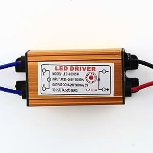 Aubig Nouveau Driver de LED étanche 5W 320mA Alimentation de LED Transformateur LED DC10-20V de sortie AC85-265V d'entrée