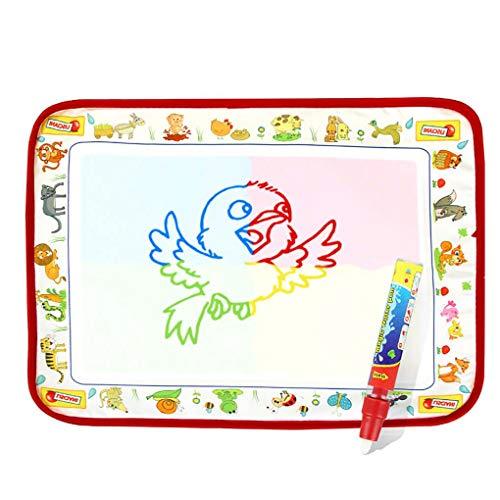 F-blue Kid Aqua Magic Painting-Matten-Kinder Writing Pad Doodle Wasser-Zeichnungs-Blanket Spielzeug 4 Farben