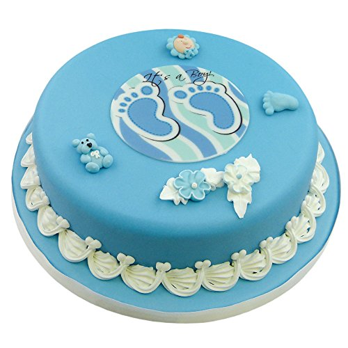 Cake-Company-Torten-Deko-Baby-zur-Geburt-Junge-Kuchen-Deko-Set-aus-Zucker-Figuren-einem-10-cm-Zucker-Aufleger-Its-a-Boy-se-Torten-Verzierung-fr-Motiv-Torten-ideal-fr-Baby-Party