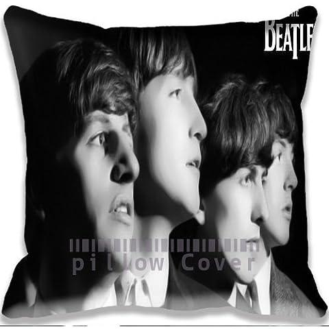 Standard Size Throw Pillow case/Copricuscini e federe with music The Beatles Face Photos Sofa Home Cushion case/Copricuscini e federe Cover Gift Pillow Cover - Beatles Faces