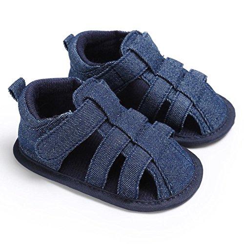 Unisex Sohle mädchen baby 0 6 Schuhe dunkelblau 12 Infant D 18 12 Warme kleinkind Weiche Overdose leinwand Jungen 6 Leder Baumwolle Monate wIdvqIZ