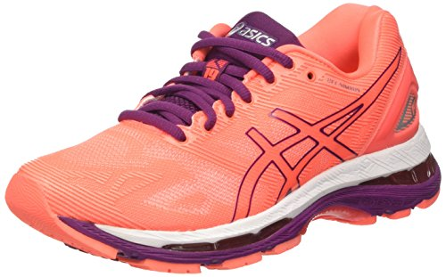 asics-gel-nimbus-19-womens-running-shoes-orange-flash-coral-dark-purple-white-55-uk-39-eu