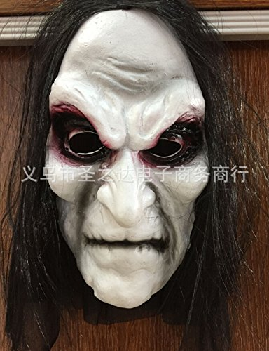 Sunhoyu Halloween Maske, Kostüm Party Streich Kostüm Blooding Auge Lange Haare Cosplay Ghost Mask