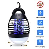 AUSHEN Bug Zapper Light Outdoor, 2 In 1 Portable USB Rechargeable Camping Lantern
