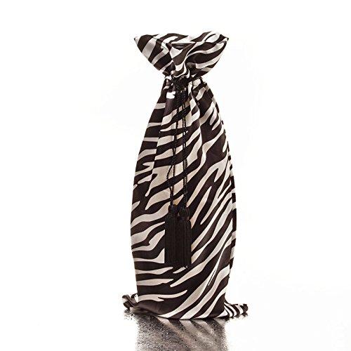 Weinflaschenhülle mit Kordelzug, Tiermuster, für Zuhause, Party, Dekoration für Abendessen, Tisch, Bar-Dekor zebra