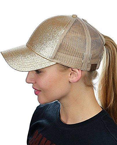 Ponytail Sombrero béisbol diseño Gorra ponycap Malla