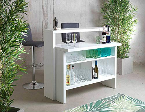Bar Minibar Scully Weiß Hochglanz - 4