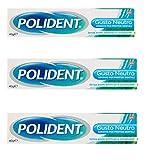 4 x Polident - Adesivo Per Protesi Dentali, Ostacola L'Infiltrazione delle Particelle di Cibo, senza Zinco, Senza Sapore - 40 g di Polident